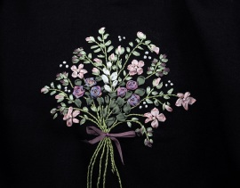 Silk ribbon embroidery by Judy Rand. Photo: J. Rand