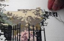 Example of Cross Stitch in progress by Judy Rand. Photo: J Rand