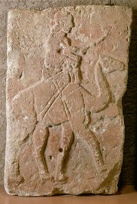 400px-Syrian_-_Slab_with_Dromedary_Rider_from_Tell_Halaf_-_Walters_2115
